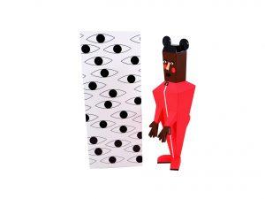 Lot #8649 – Nina Chanel Abney Baby Vinyl Sculpture Art Toys Nina Chanel Abney