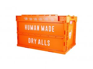 Lot #8652 – Human Made Dry Alls 50L Orange Storage Crate Container Crates Human Made