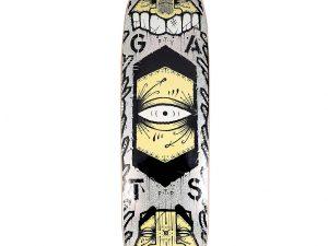 Lot #9843 – GATS Cruiser Silver Glitter Foil Skateboard Skate Deck Limited Edition GATS GATS Cruiser Skateboard