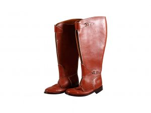 Lot #9602 – Custom Polo Horse Riding Leather Boots Javier Calleja [tag]