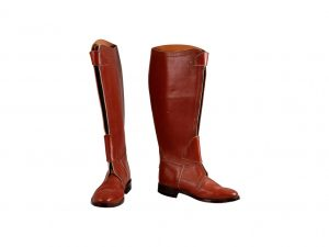 Lot #9632 – Custom Horse Riding Leather Polo Boots Javier Calleja [tag]
