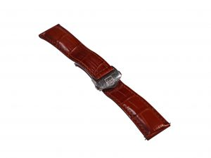 Lot #6514 – Tag Heuer FC5014 Deployant Buckle With 22mm Generic Leather Strap Tag Heuer [tag]