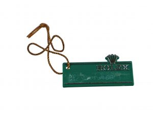 Lot #6517 – Rolex Watch Green Hang Tag Watch Parts & Boxes [tag]