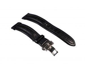 Lot #6521 – Nautische Instrumente Muhle Glashutte 18mm Leather Watch Strap With Deployant Buckle Watch Straps [tag]