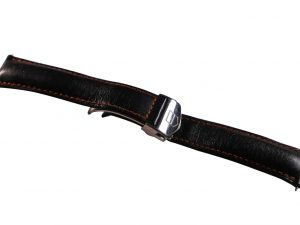 Lot #6542 – Tag Heuer FC5014 20MM Leather Watch Strap With Deployant Buckle Watch Straps [tag]