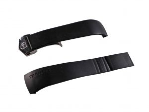 Lot #6555 – Tag Heuer 22MM Rubber Strap With FC5014 Deployant Buckle Watch Straps [tag]
