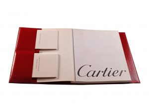 Lot #6579 – Cartier Certificate of Guarantee Booklet and Operating Instructions Manual Blank [category] [tag]