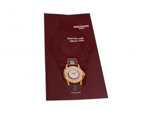 Lot #6589 – Patek Philippe World Time 5110 Brochure Ephemera [tag]