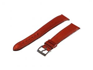 Lot #6605 – Bvlgari 18MM Leather Watch Strap 14MM Tang Buckle Watch Straps [tag]