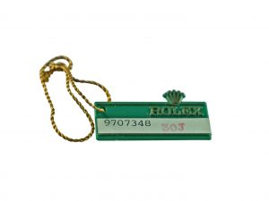 Lot #6607 – Rolex Oyster Swimpruf 1987 Green Hang Tag Accessories [tag]
