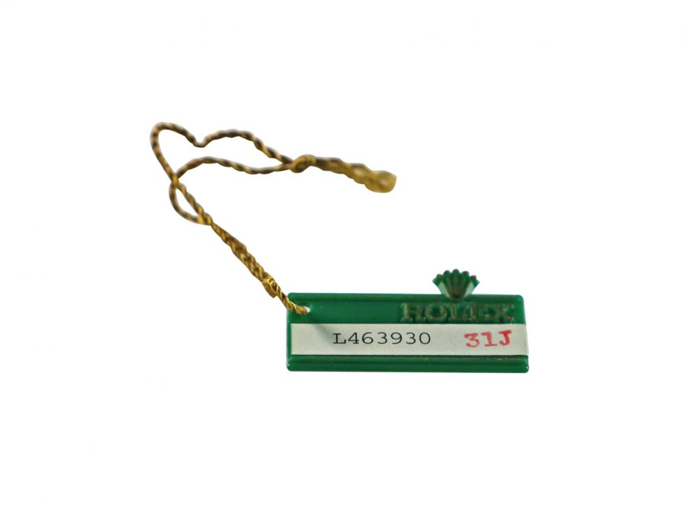 Lot #6608 – Rolex Oyster Swimpruf 1989 Green Hang Tag Accessories [tag]