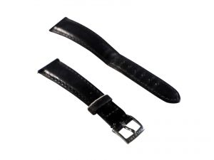 Lot #6637 – Bvlgari 18MM Leather Watch Band With 14MM Tang Buckle Watch Straps [tag]
