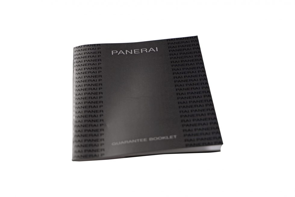 Lot #6640 – Panerai Watch Guarantee Booklet Accessories [tag]