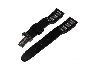 Lot #6641 – Bvlgari RT45 Rubber And Stainless Steel 19MM Watch Bracelet Watch Bracelets [tag]
