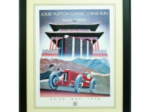 Lot #9526 – Louis Vuitton 1998 Classic China Run Poster by Razzia Louis Vuitton Louis Vuitton