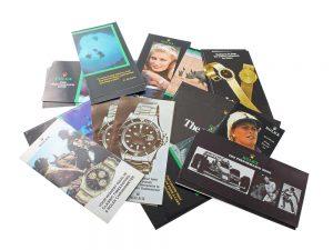 Lot #8954 – Vintage Rolex Brochures Cosmograph 6263 6265 Explorer 1016 1655 Ephemera Ephemera