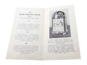 Lot #8960 – Vintage Patek Philippe 70101 Dome Clock Original Sales Brochure Ephemera Ephemera