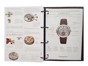 Lot #11381 – Rare Audemars Piguet Dealer Master Binder Catalog Audemars Piguet Audemars Piguet