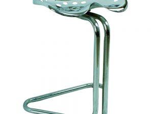 Lot #9064 – Chrome Tractor Seat Stool Furniture Stool