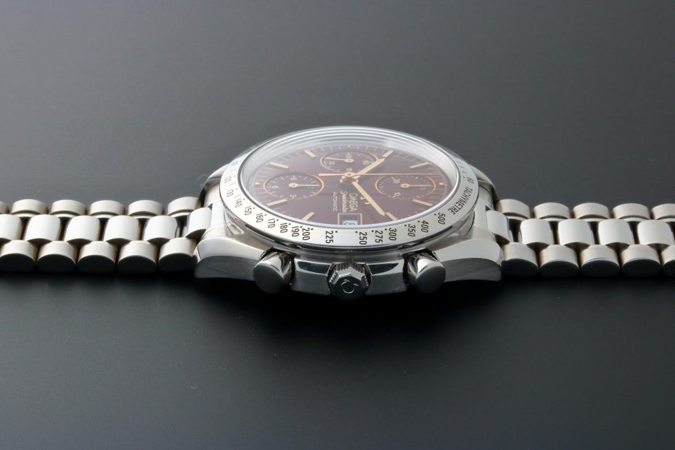 Lot #10950 – Rare Unusual Omega Speedmaster Date Watch Oxblood Dial 3511.61 3511.61 Chronograph