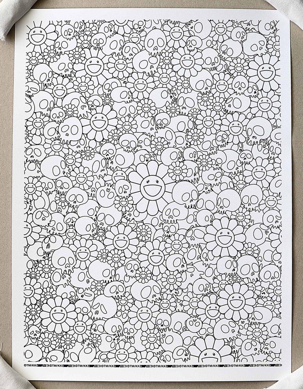 Lot #9500 – Takashi Murakami Skulls & Flower x ComplexCon Print Art [tag]