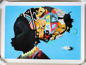 Lot #9503 – Hebru Brantley Darker Than The Color Of My True Love's Hair Print Art Hebru Brantley