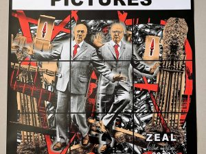 Lot #9531 – Gilbert & George Signed Scapegoating Pictures Zeal Poster Art Gilbert & George