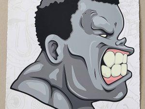 Lot #10496 – Hebru Brantley Issue 1 Hulk Grey Screen Print LTD ED 20 Art Hebru Brantley