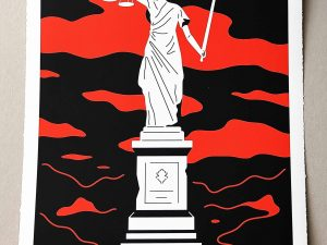 Lot #9535 – Cleon Peterson Monument To Power Law LTD ED 100 Art Cleon Peterson