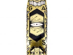 Lot #11201 – GATS Cruiser Gold Glitter Foil Skateboard Skate Deck Limited Edition GATS GATS Cruiser Skateboard
