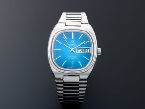 Lot #10907 – Vintage Omega 166.0211 Seamaster Day Date Blue Dial Watch 166.0211 Omega 166.0211