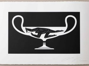 Lot #9531A – Cleon Peterson End Of Empire Kantharos Screen Print White LTD ED 150 Art Cleon Peterson