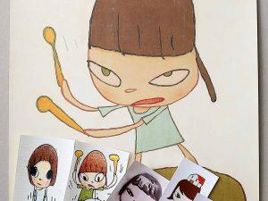 Lot #10445 – Yoshitomo Nara Marching on a Butterbur Leaf 2019 Print With Stickers Joshua Vides Yoshitomo Nara