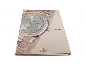Lot #10273 – Rolex 2000 – 2001 Master Dealer Watch Catalog Collector's Bookshelf [tag]