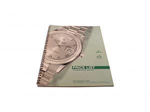 Lot #10284 – Rolex 2000 Master Dealer Watch Price List Catalog Collector's Bookshelf [tag]