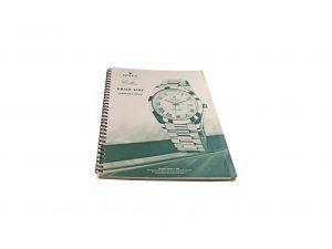 Lot #10288 –  Rolex 2008 Master Dealer Watch Price List Catalog Collector's Bookshelf [tag]
