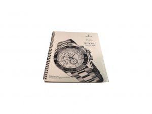 Lot #10291 – Rolex 2007 Master Dealer Watch Price List Catalog Collector's Bookshelf [tag]
