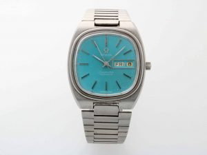 Lot #10506 – Omega Seamaster Day Date Blue Dial Watch Vintage 166.0211 Omega Band 1286/249