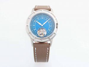 Lot #10451A – Pierre Gaston Automatic Tourbillon Watch Blue Dial Pierre Gaston Pierre Gaston