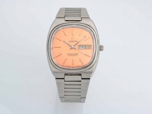 Lot #10487 – Rare Vintage Omega 166.0211 Seamaster Day Date Salmon Dial Watch 166.0211 Omega 166.0211
