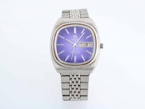 Lot #10521 – Rare Vintage Omega 166.0211 Seamaster Day Date Purple Dial Watch 166.0211 Omega 166.0211