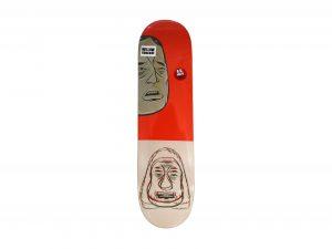 Lot #11070 – Barry McGee Dollin Barry Skateboard Deck Barry McGee Barry McGee