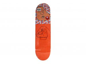 Lot #11071 – Barry McGee Reynolds Barry Skateboard Deck Barry McGee Barry McGee Skateboard