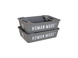 Lot #10759 – Human Made Stacking Box Set Grey Art Toys BBC