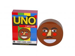 Lot #10764 – Nina Chanel Abney Uno Card Games With Nino Tin Storage Container Art Toys BBC