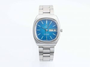 Lot #10948 – Vintage Omega Day Date Seamaster Blue Dial Watch Omega Omega Day Date