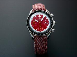 Lot #10904 – Omega Speedmaster Red Schumacher Chronograph 3510.61 Omega Omega 3510.61.00