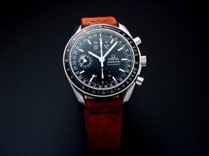 Lot #10909 – Omega Speedmaster Triple Calendar Mark 40 Watch 3520.50 Omega Omega Mark 40