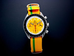 Lot #10934 – Omega 3510.12 Speedmaster Schumacher Watch Yellow 3510.12 Omega 3510.12