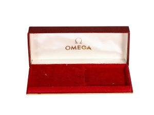 Lot #10992 – Omega Watch Box Vintage Rectangular Presentation Omega [tag]